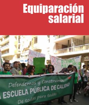 Equiparación salarial. USTEA reclama que el profesorado que trabaja en Andalucía equipare su salario con la media estatal, así como la devolución inmediata de las pagas extras de 2013 y 2014, aún adeudadas por la administración andaluza.