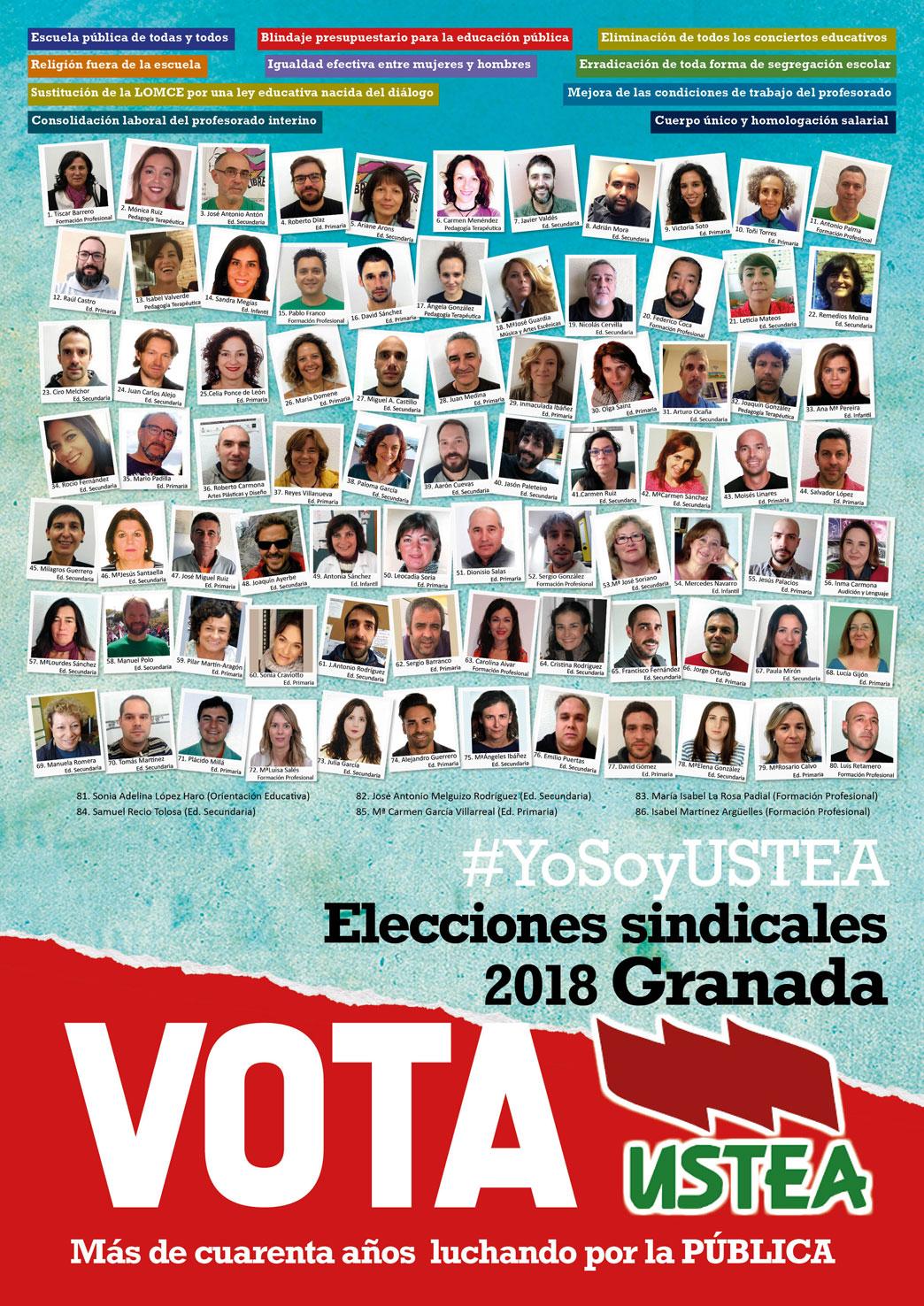 Elecciones sindicales 2018 a quién votar Granada